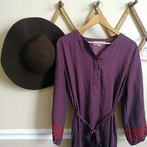 LOFT silky shirt dress 114